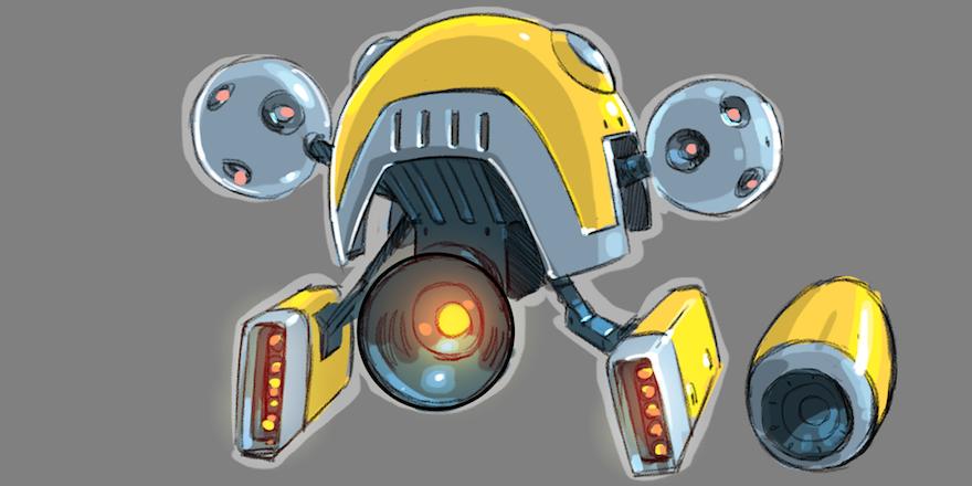 Agent Dash power-up concept art
