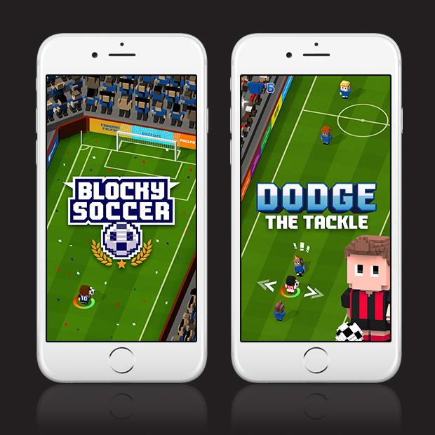 Blocky Soccer – Endless Arcade Runner